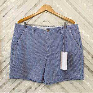 NWT Chubbies Bushwoods Striped Seersucker Shorts